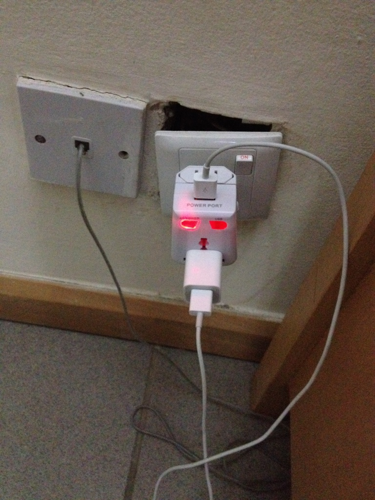 Keep those phones charged, on the off chance the wi-fi is working today