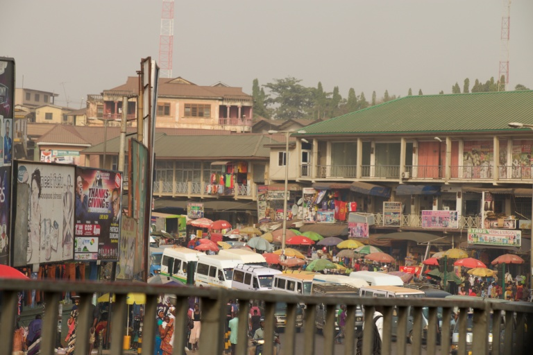 Kejetia Market, Kumasi, home to dead white men's clothes (obroni wawu)